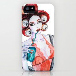 Red Head Beauty iPhone Case