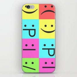 Smiley Chess Board iPhone Skin