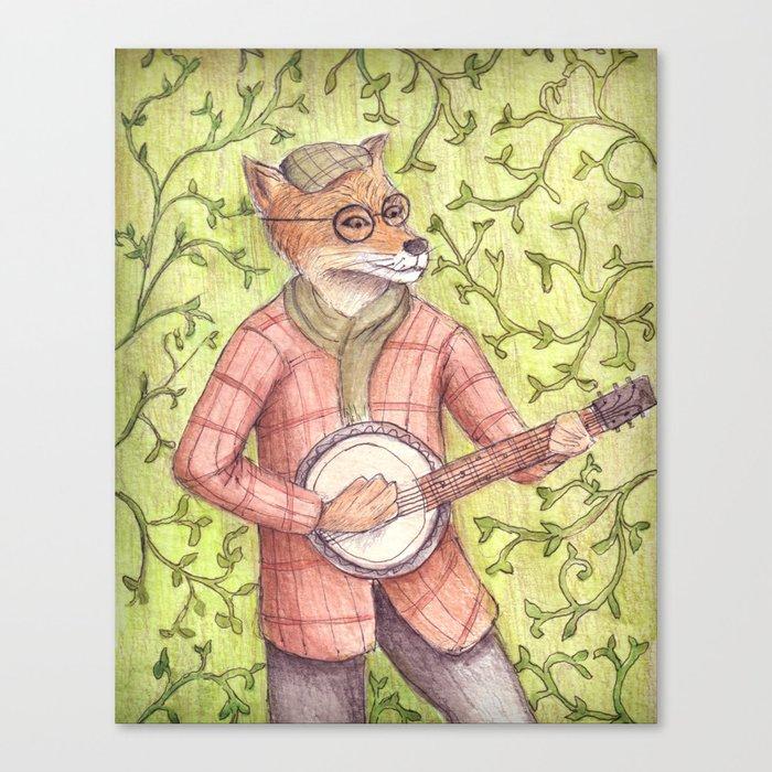Play us a song Mr. Fox Canvas Print