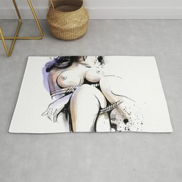 Shibari - Japanese BDSM Art Painting #13 Rug