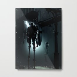 Stilt Walkers Metal Print
