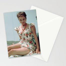 Young Sophia Loren, 1955 Stationery Cards