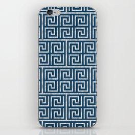Oriental Symbol (Blue & Silver) iPhone Skin