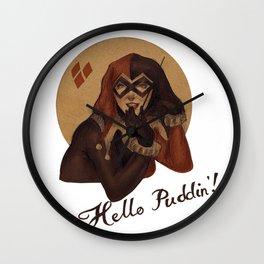 Hello Puddin'!  Wall Clock