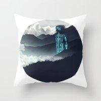 attack on titan Throw Pillows featuring Titan by ketizoloto