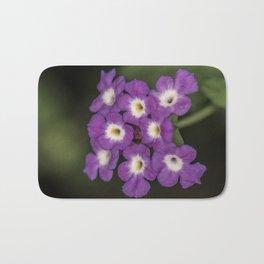 "Purple Flowers ""macro"" Bath Mat"