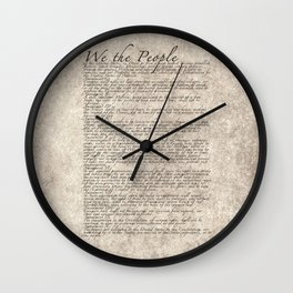 United States Bill of Rights (US Constitution) Wall Clock