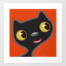 Black Kitty 2 Art Print
