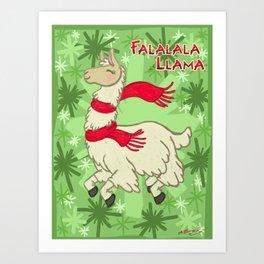 Falalala Llama! Art Print