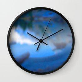 Reflections on my secret lake Wall Clock