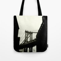 dumbo Tote Bags featuring DUMBO by Camile O'Briant