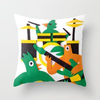 band Throw Pillows featuring The Band by Jacopo Rosati