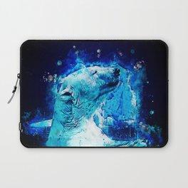 icebear polarbear enjoying splatter watercolor Laptop Sleeve