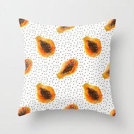 Papaya vibes Throw Pillow