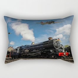 Hurricane and Steam Train Rectangular Pillow