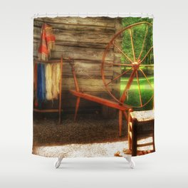 Yarnwork at the Mabry Mill Shower Curtain