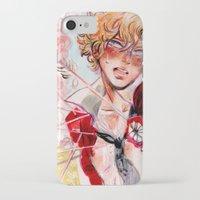 enjolras iPhone & iPod Cases featuring les miseràbles: st. enjolras by Daniela Viçoso