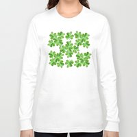 clover Long Sleeve T-shirts featuring Clover Print by UMe Images