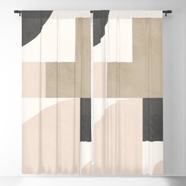 Geometric Abstract 105 Blackout Curtain