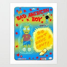 Bad American Boy Art Print