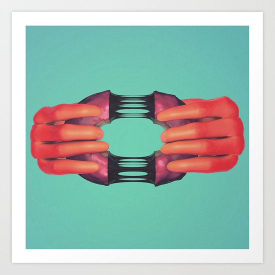 Here, have a donut.  Art Print