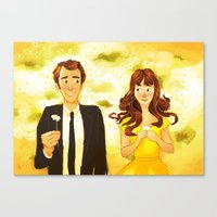 pushing daisies Canvas Prints featuring Pushing Daisies by AngHuiQing