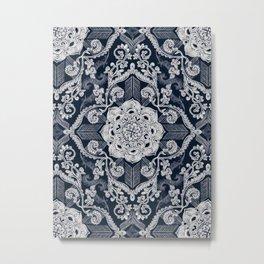 Centered Lace - Dark Metal Print