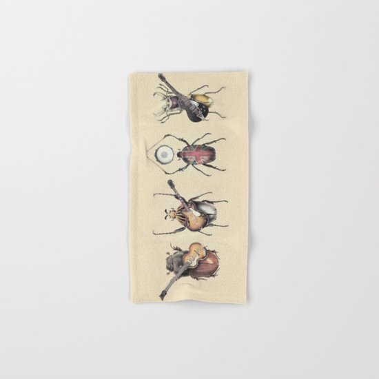 Meet the Beetles Hand & Bath Towel