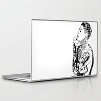 stephen king Laptop & iPad Skins featuring Stephen by christinabrunette