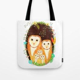 Owl Family Home Tote Bag