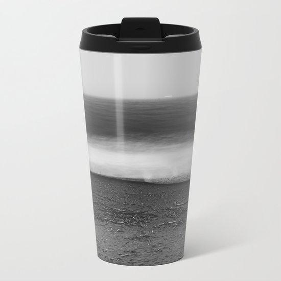 Ocean - 10 Black and White Metal Travel Mug