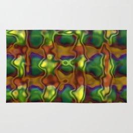 Green motion pattern Rug