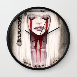 Bone Priestess  Wall Clock