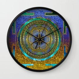 Yantra Mantra Mandala #1 Wall Clock