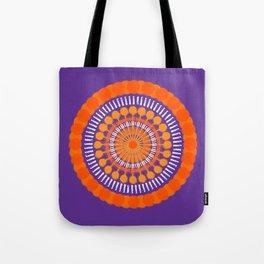 Rough Orange Mandala Tote Bag