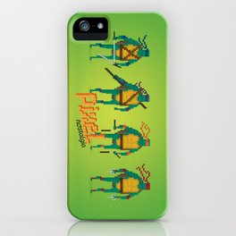 Ninja Turtles - Pixel Nostalgia iPhone Case