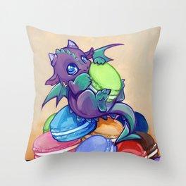 Macaron hoarder Throw Pillow