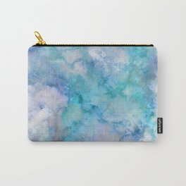 Beautiful & Stylish Aqua and Blue Marble Carry-All Pouch