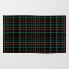 Red and green plaid Rug