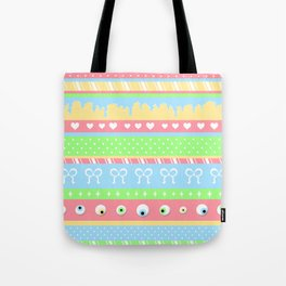Creepy Cute Stripes Tote Bag