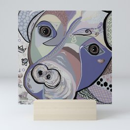 Pit Bull Denim Tones Mini Art Print