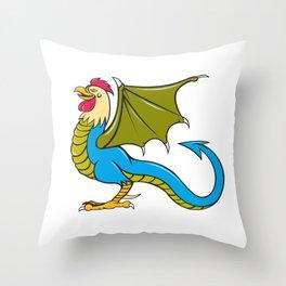 Basilisk Bat Wing Standing Cartoon Throw Pillow