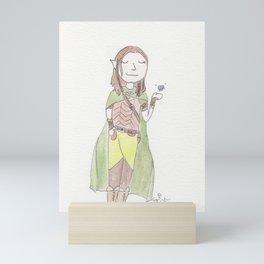 A Wood Elf Druid and His Little Friend Mini Art Print