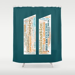 Life Path 11 (color background) Shower Curtain