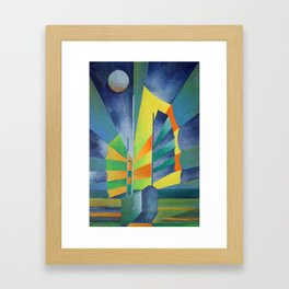 Junk By The Light Of The Silvery Moon Framed Art Print