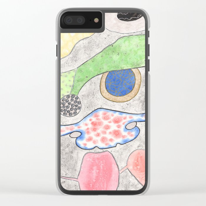 Collection of Alien Organs Clear iPhone Case
