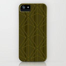 GREEN GEOMETRIC DIAMONDS iPhone Case