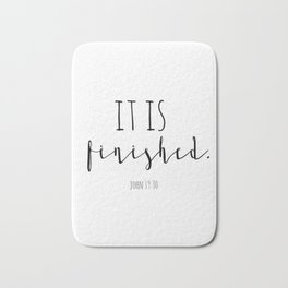 It is finished John 19:30 Easter Good Friday Bible Verse Bath Mat
