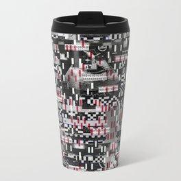 Comfortable Ambiguity (P/D3 Glitch Collage Studies) Metal Travel Mug