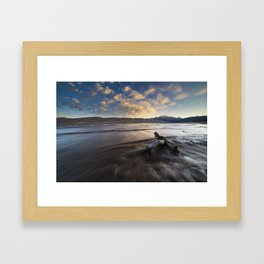 Dunes Morning Framed Art Print